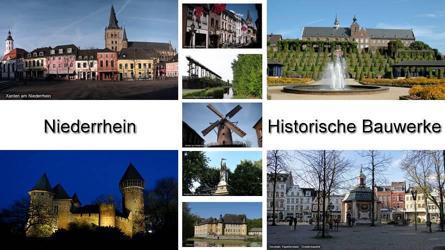 Niederrhein Historische Bauwerke