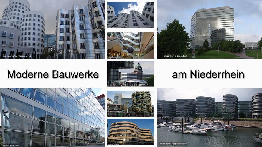 Moderne Bauten am Niederrhein