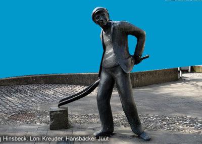 Hinsbeck Kunstweg Bronzestatue
