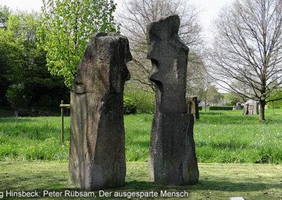 Hinsbeck Kunstweg Ausgesparte Mensch