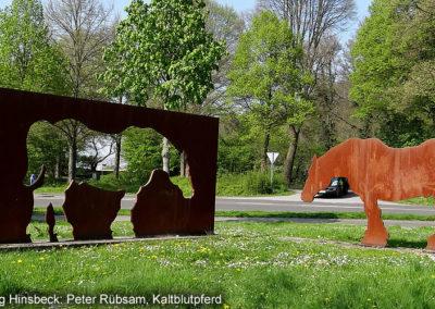 Hinsbeck Kunstweg Kaltblutpferd