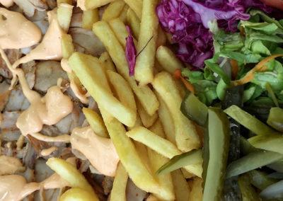 Pommes Fleisch Salat