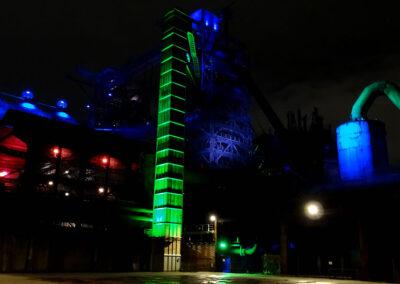 Lichtinstallation Landschaftspark Duisburg Nord