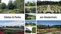 Gaerten Parks Niederrhein NRW